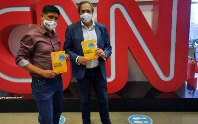 Jorge Sanchez e João Carlos Borda na CNN em São Paulo