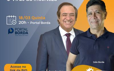 """Live com os autores do livro """"O Vírus da Incerteza"""" quinta-feira (18/03), às 20h"""